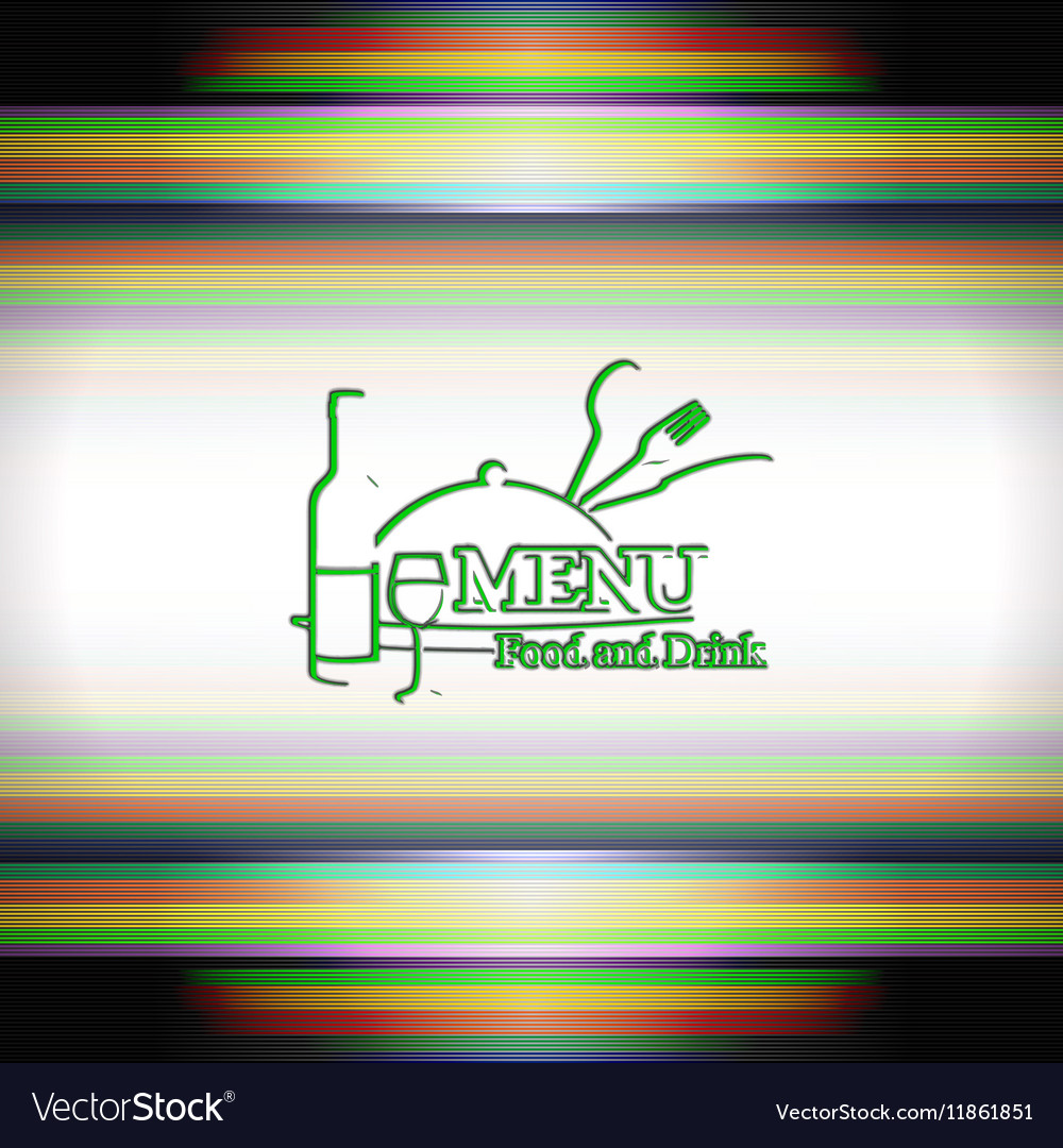 Restaurants or cover menu template outline logo vector image