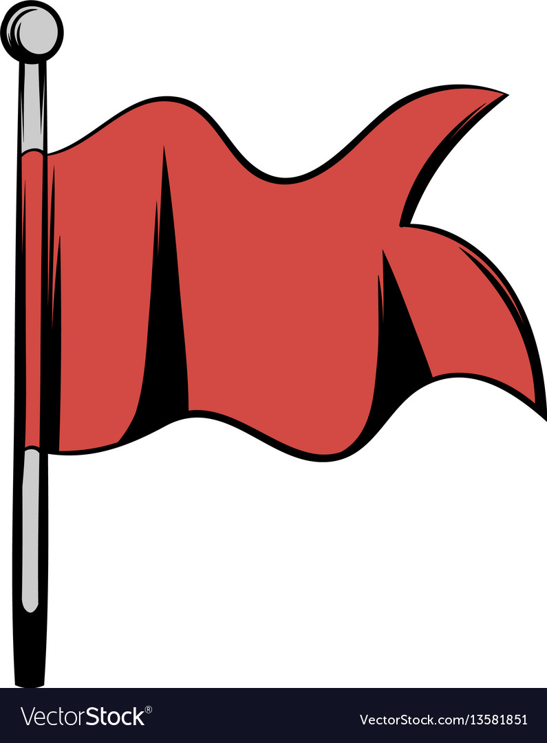 Spear with a red flag vector image