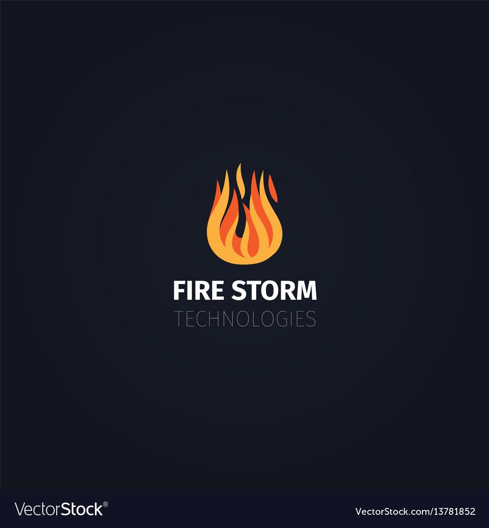Fire storm technologies logo template vector image
