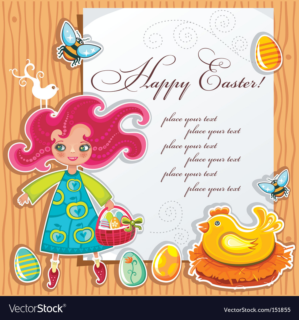Easter paper vector image