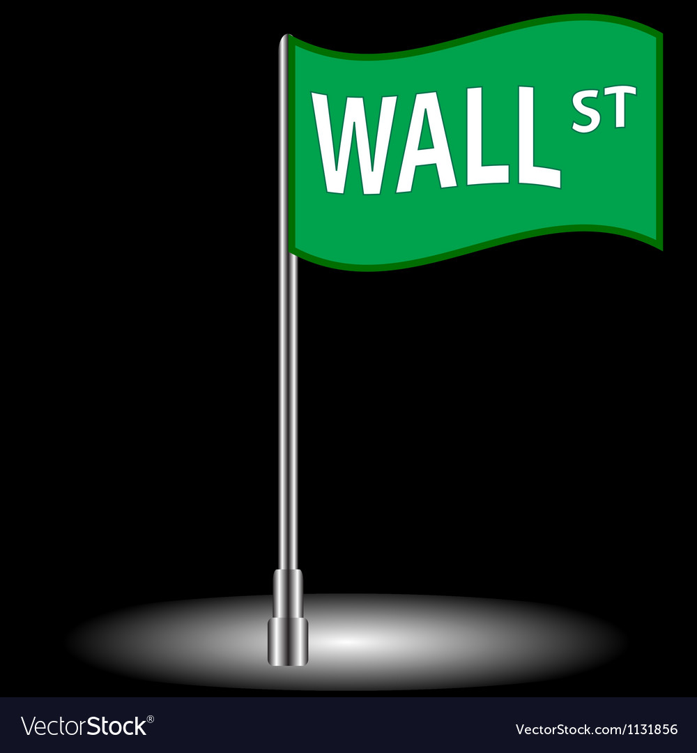 Wall street flag vector image