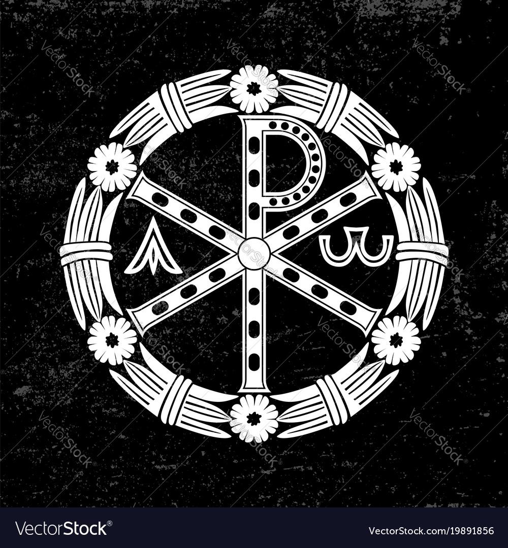 Ancient christian symbol of jesus christ vector image ancient christian symbol of jesus christ vector image buycottarizona Image collections