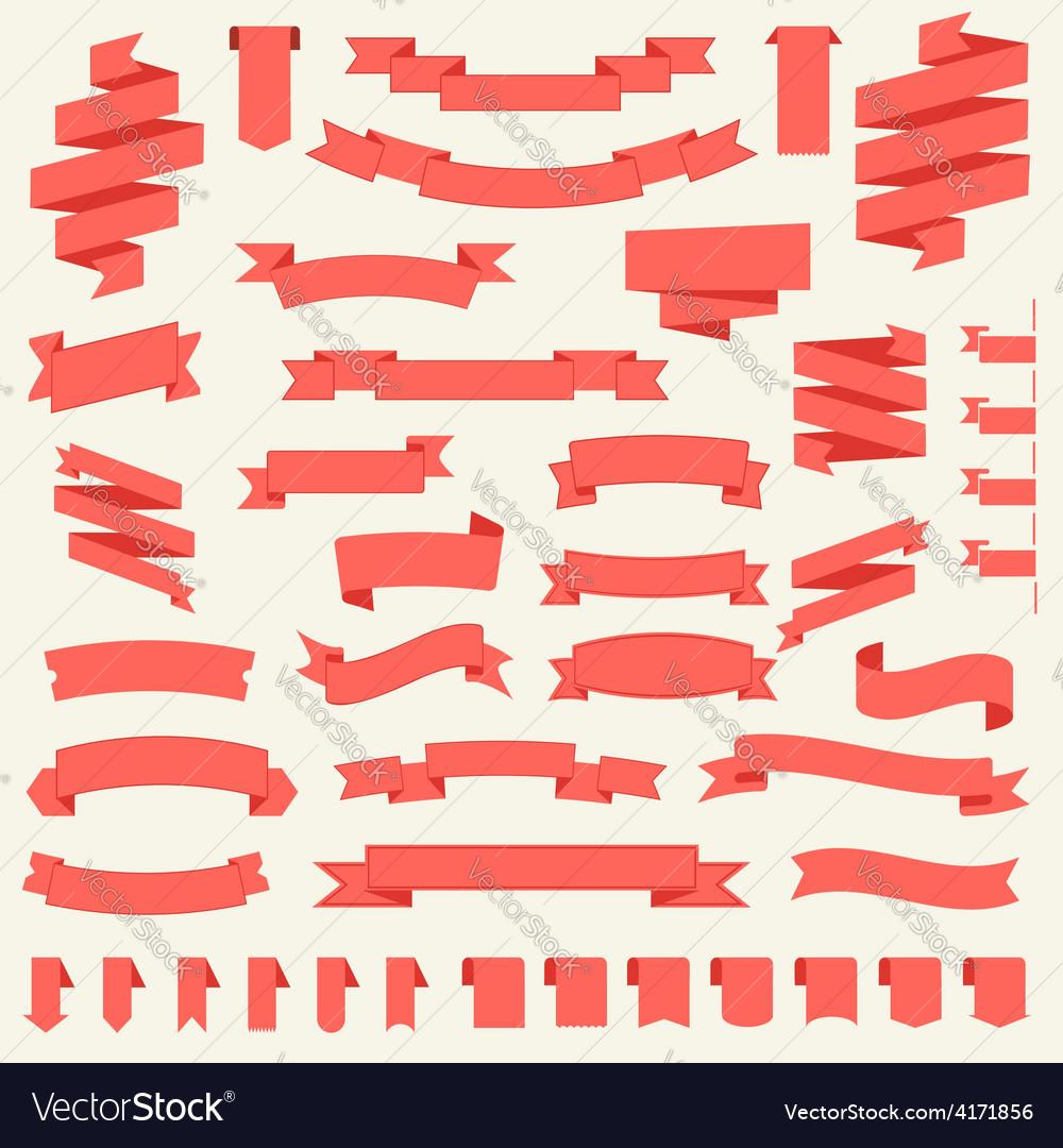 Big set of ribbons templates vector image
