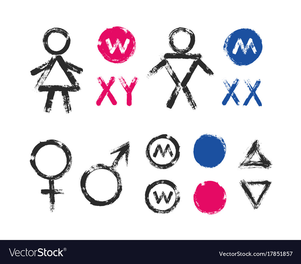 Male Female Symbols Wc Toilet Icons Royalty Free Vector-9916