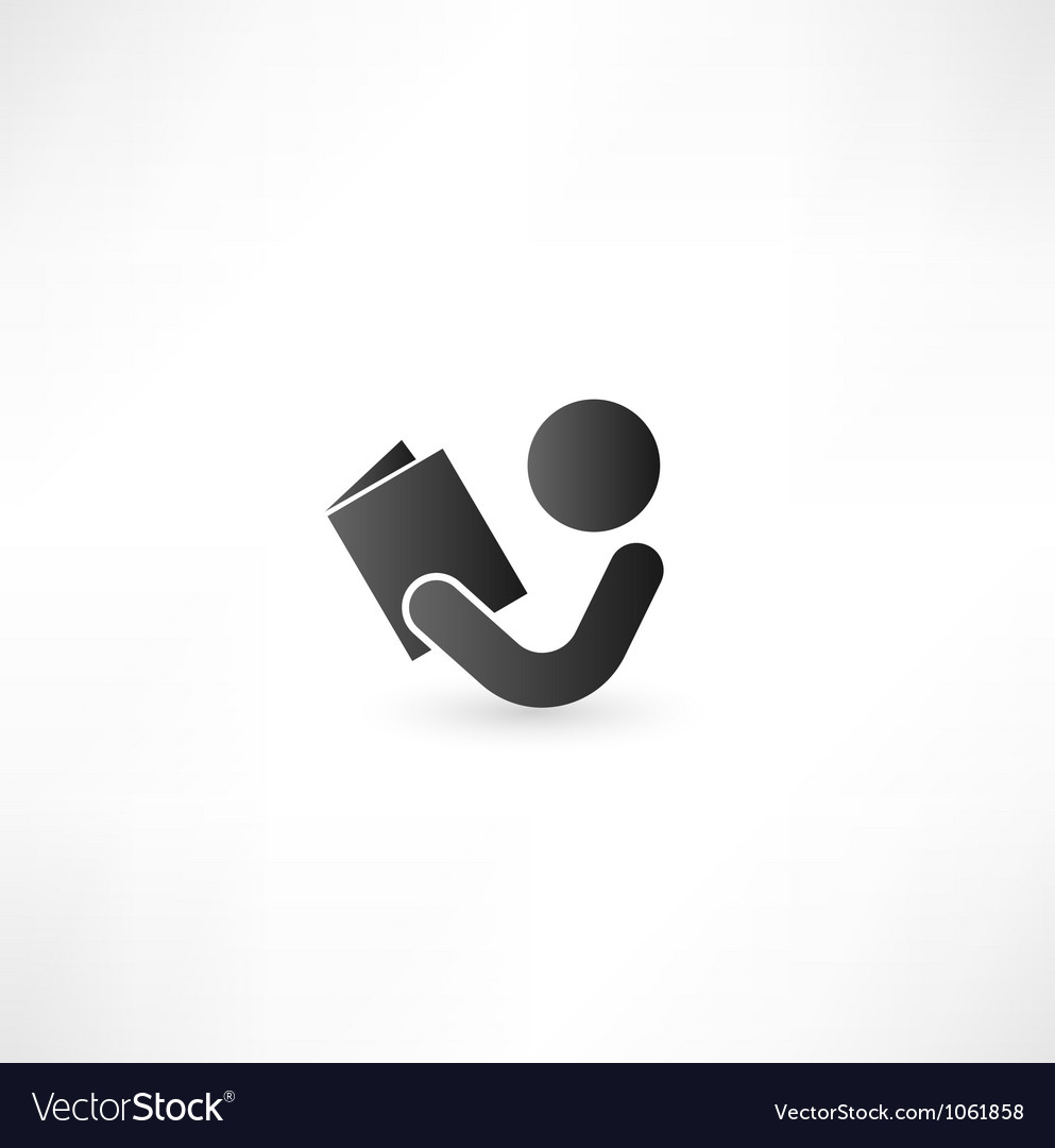 Book Reader Sign Icon vector image