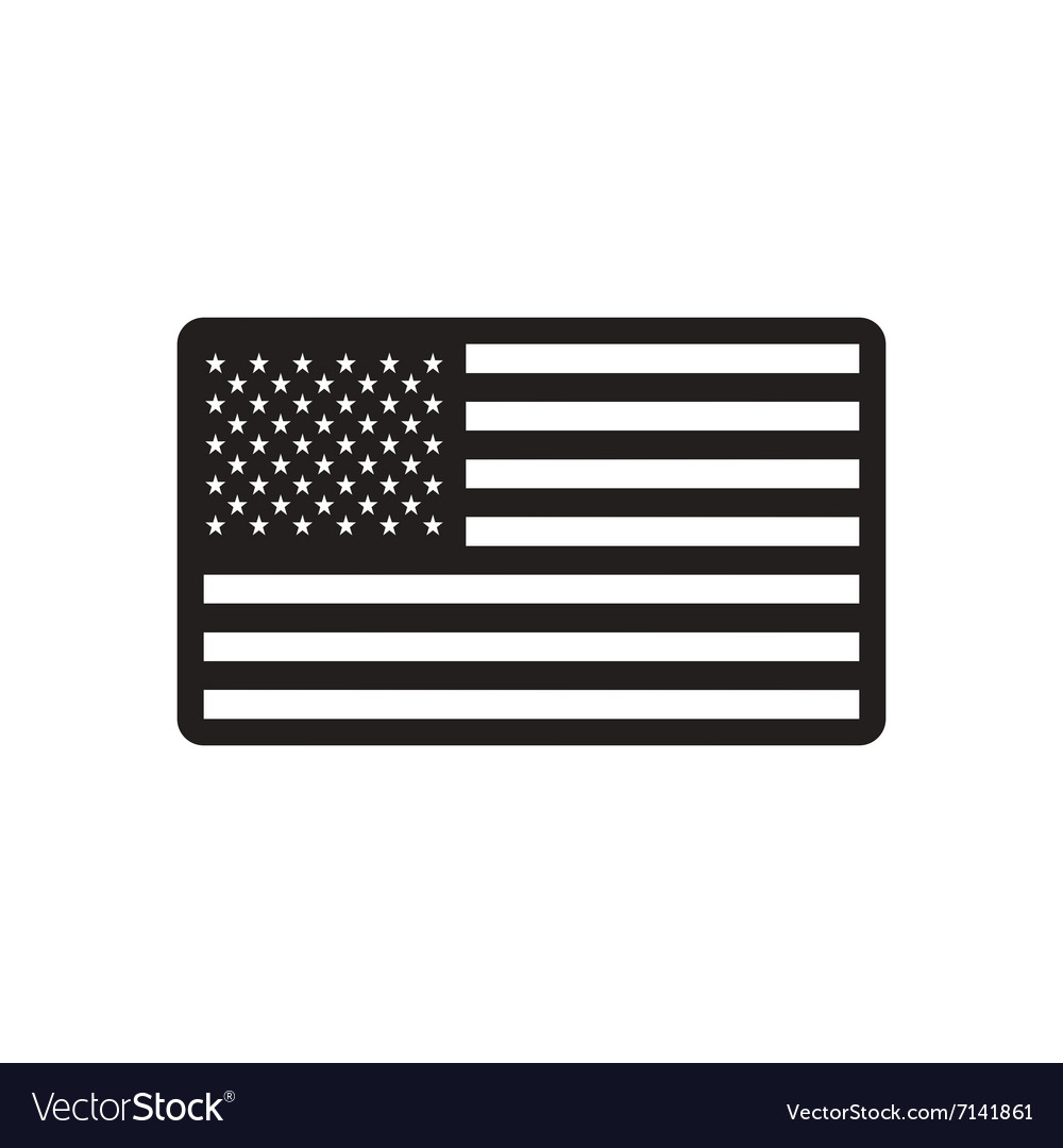 stylish black and white icon american flag royalty free