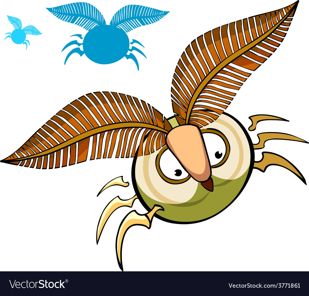 Cartoon insect with fluffy eyebrows vector image
