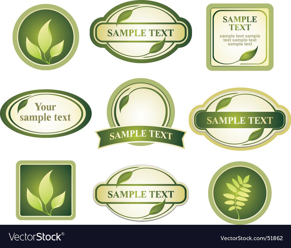 Label assortment vector image