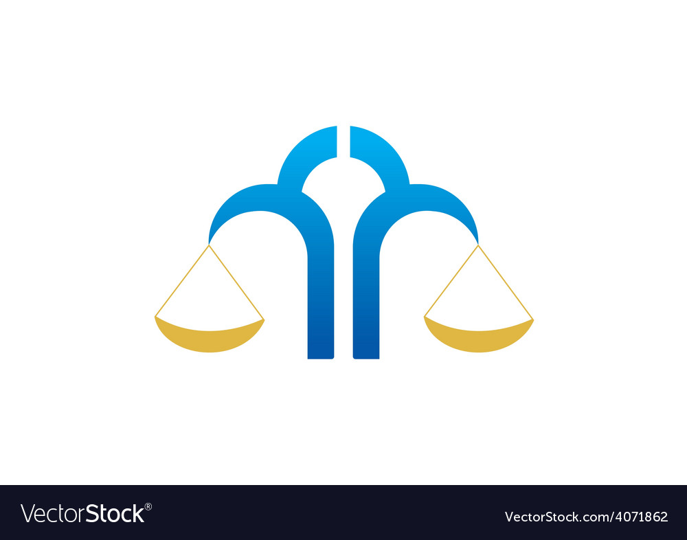 Law equal business logo vector image