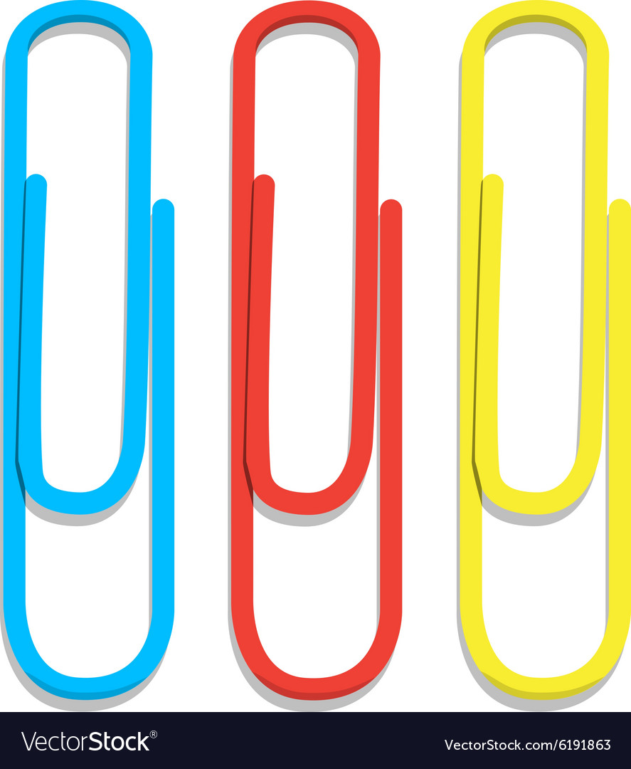 Paper clips vector image