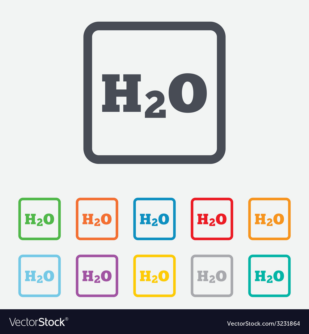 H2o water formula sign icon chemistry symbol vector image h2o water formula sign icon chemistry symbol vector image buycottarizona Choice Image