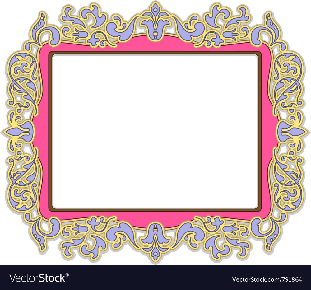 Pink frame vector image