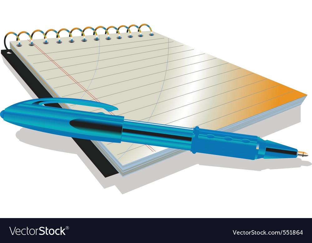 Vector illustraition of elegant pen and notebook vector image