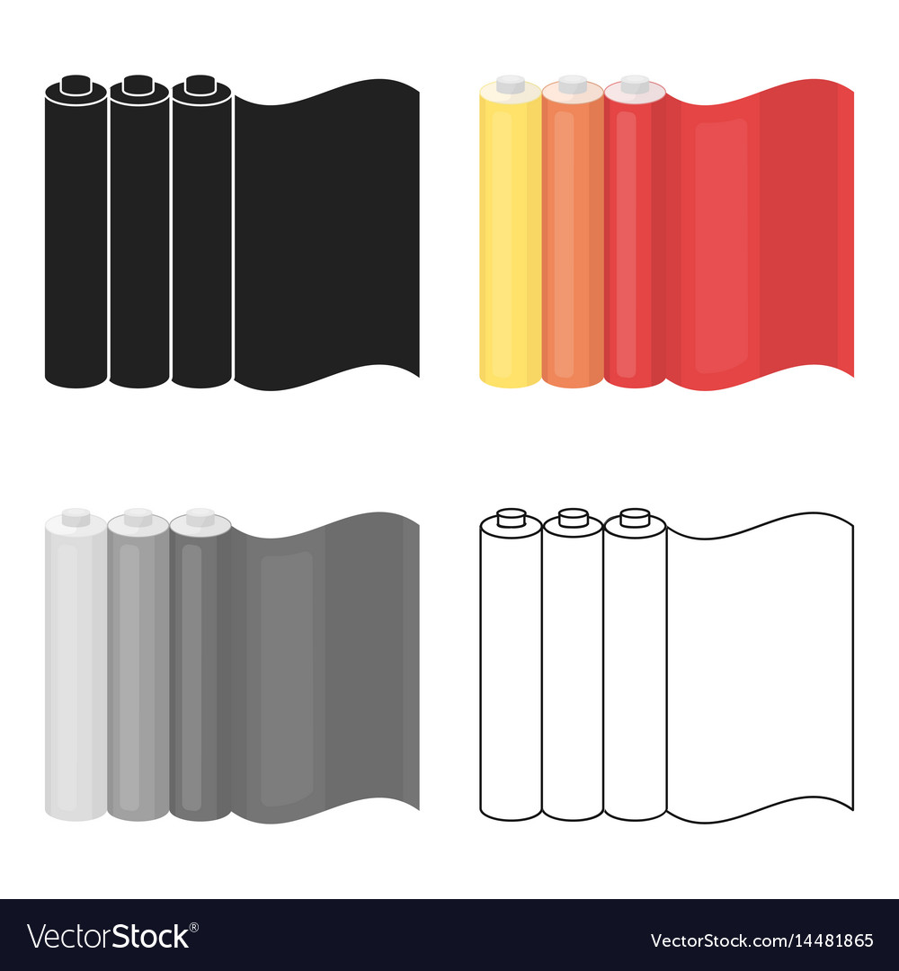 Color printing paper - Color Printing Paper In Cartoon Style Isolated On Vector Image