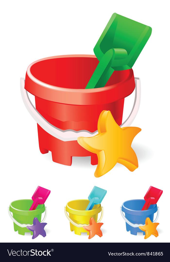 Beach toys vector image
