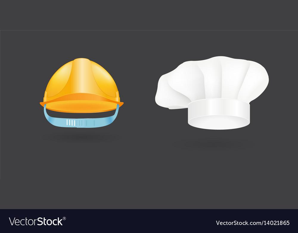 Different kind of fashion cook hat modern elegance vector image