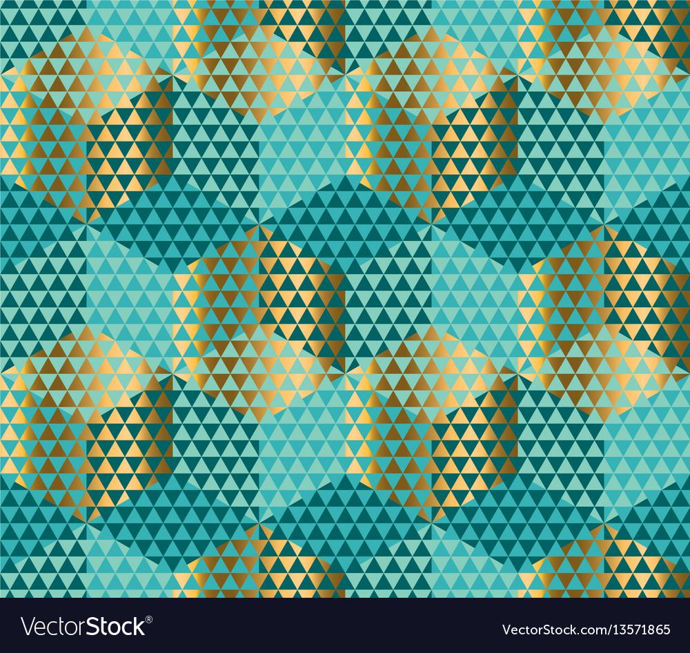Geometry motif in lizard or snake skin style green vector image