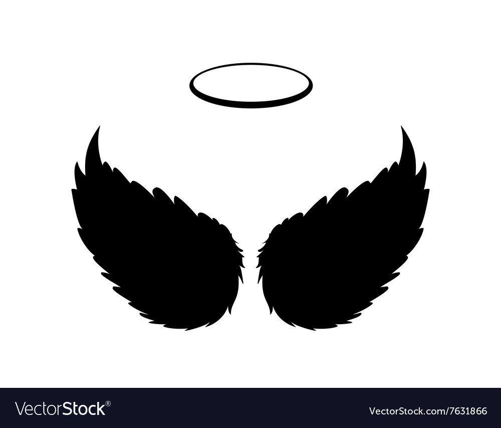 Black angel wings and halo royalty free vector image black angel wings and halo vector image biocorpaavc