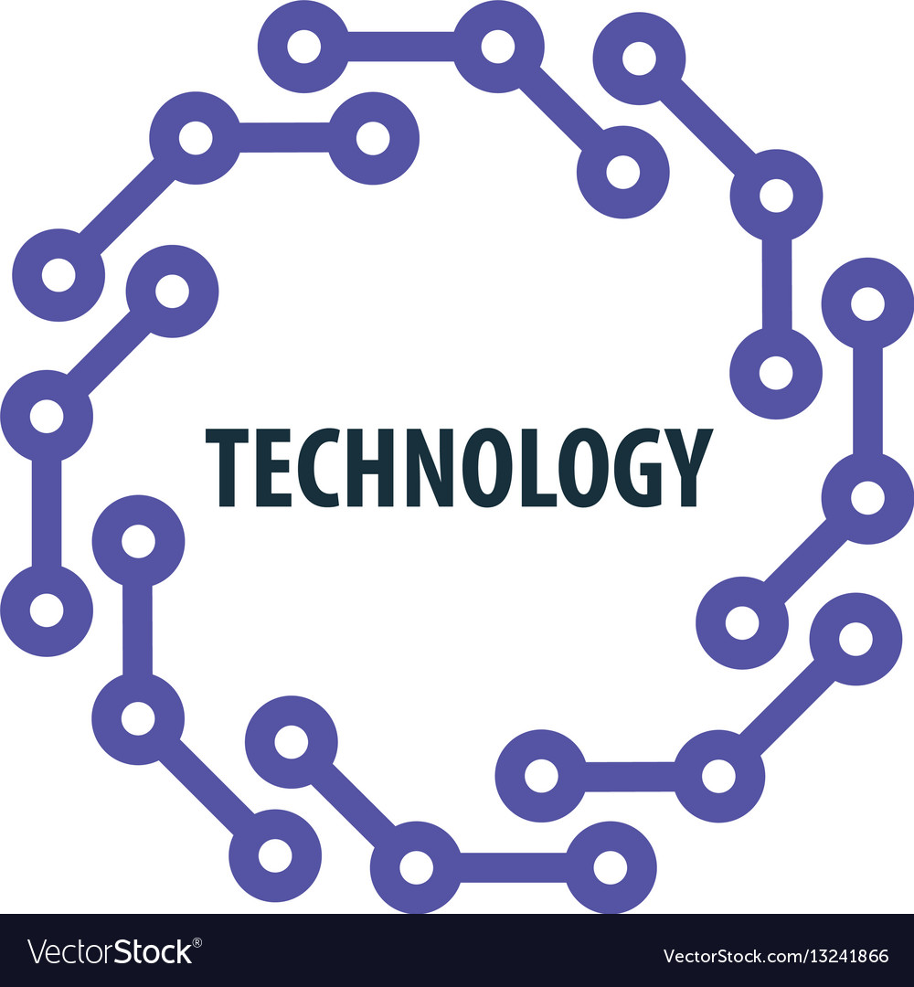 Logo technology vector image