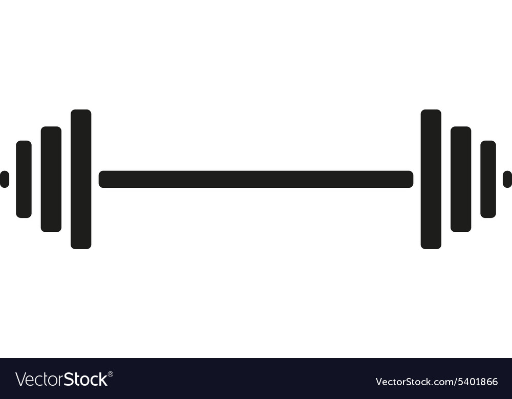 Dumbbell Icon Vector The dumbbell icon Body...