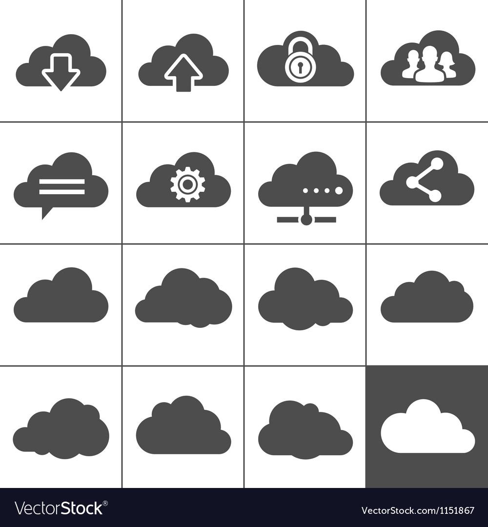 Cloud Computing Icons vector image