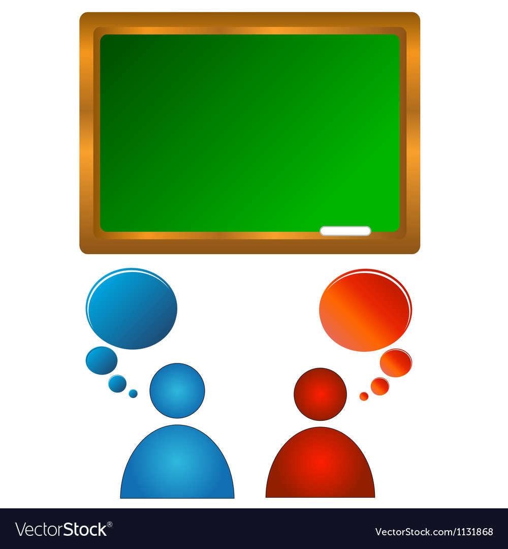 Audience training vector image
