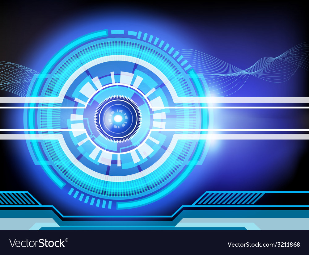Background techno vector image