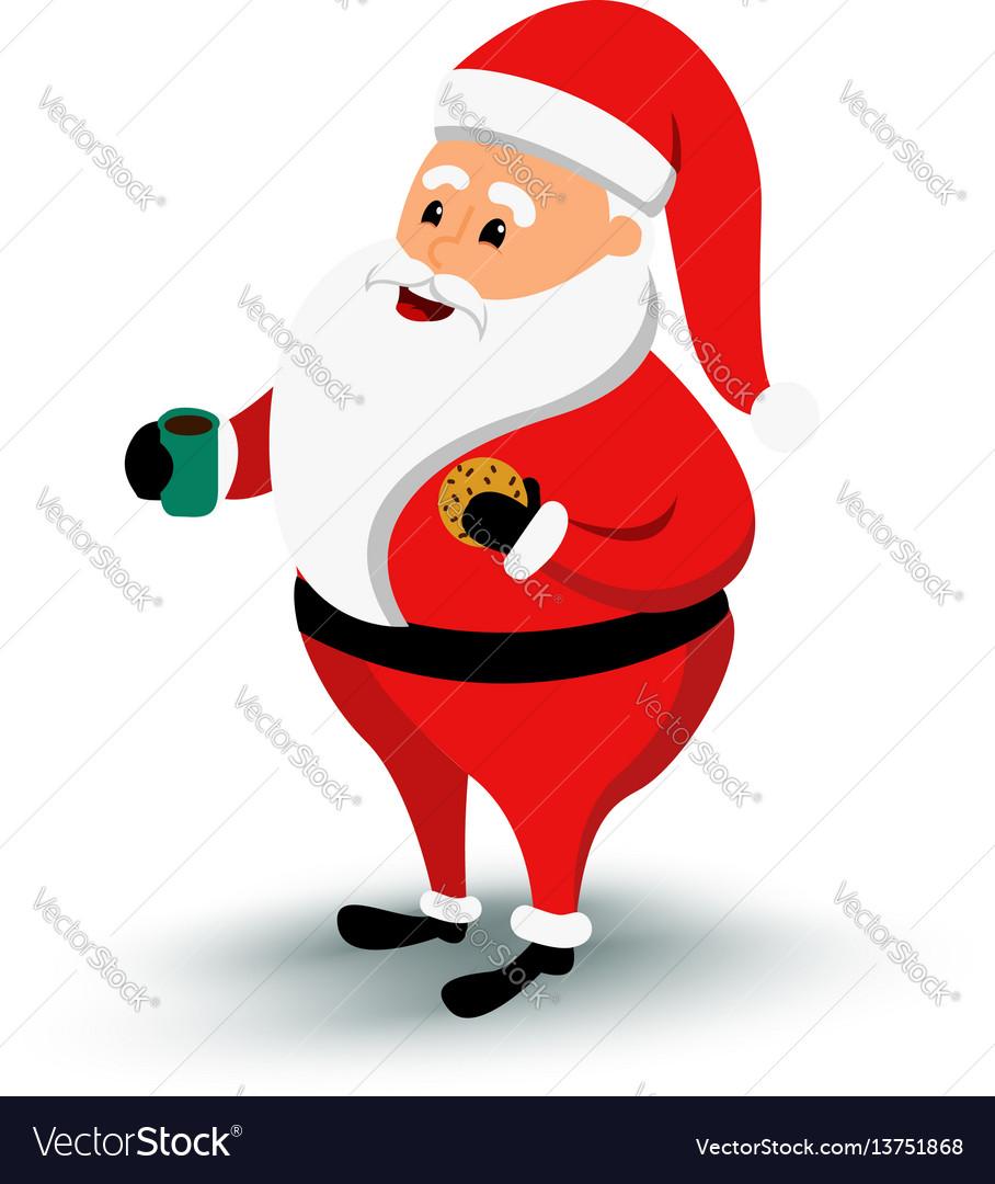 Christmas smiling santa claus character cartoon vector image