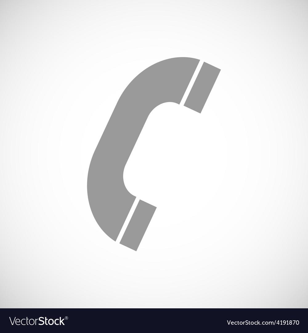 Phone black icon vector image