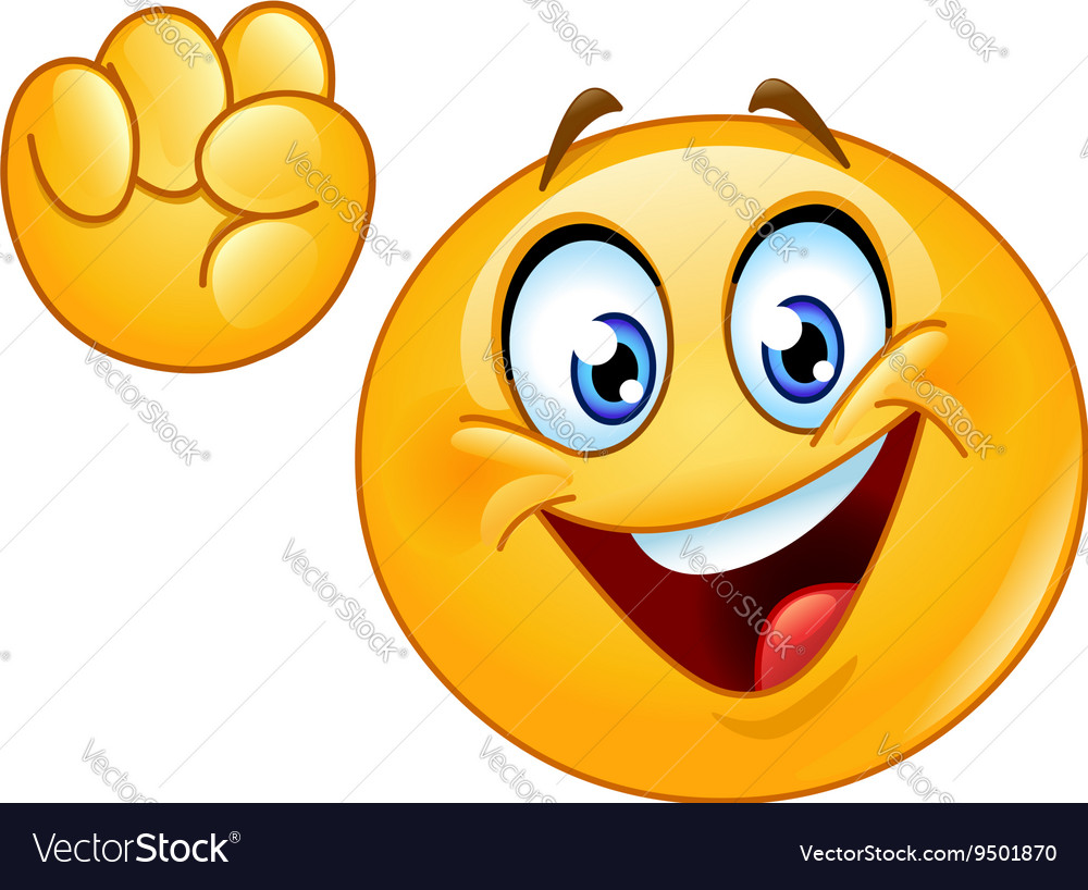 Power to the people emoticon vector image