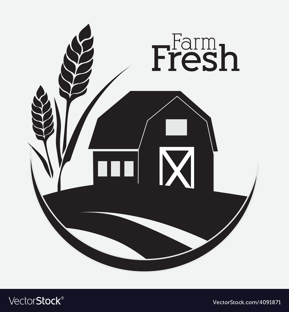 Farm design vector image