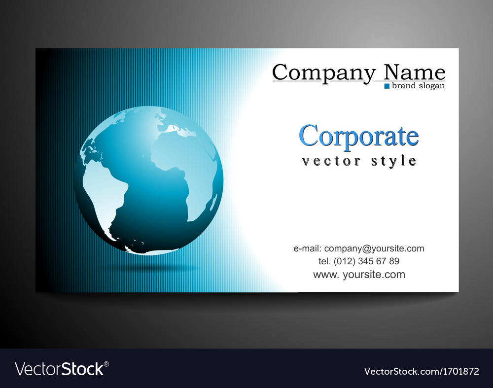 Business card design with globe royalty free vector image business card design with globe vector image reheart Gallery