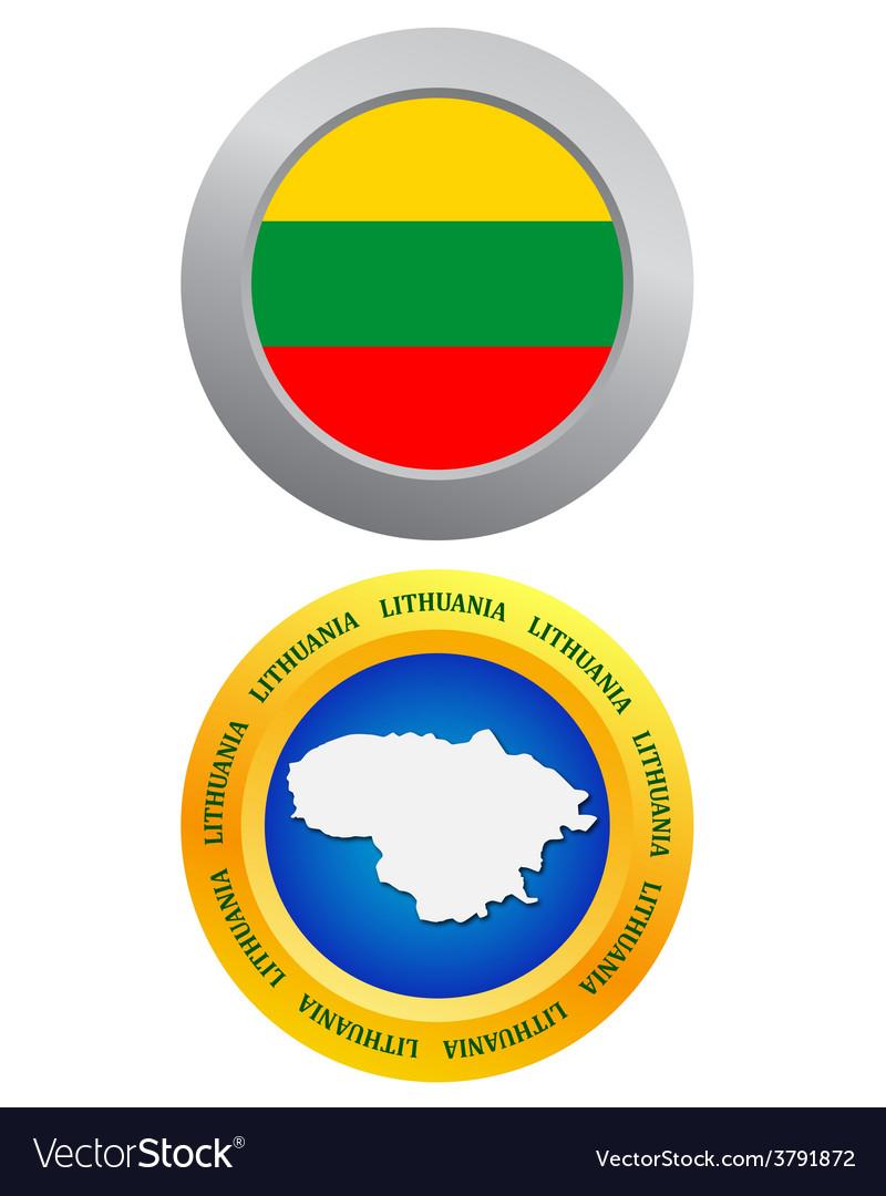 Button as a symbol LITHUANIA vector image