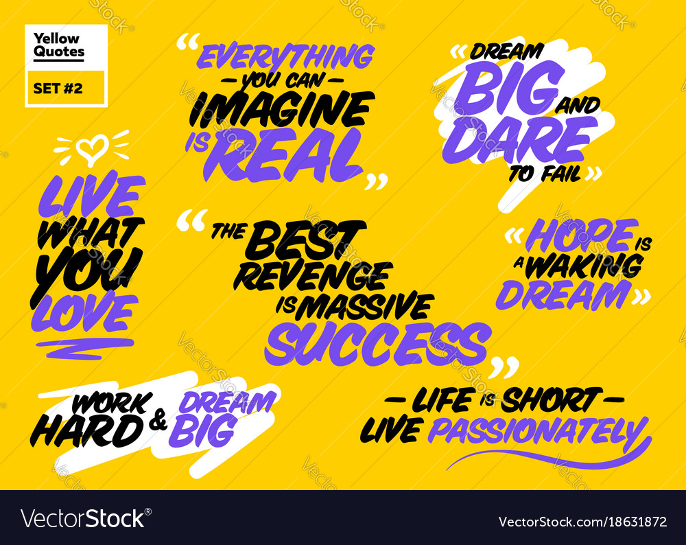 Famous Inspirational Quotes Collection Of Famous Inspirational Quotes Vector Image