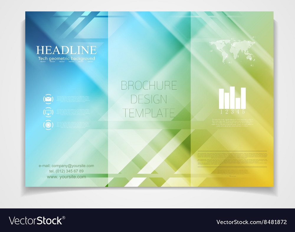 Trifold Brochure Design Template Royalty Free Vector Image - Free tri fold brochure design templates