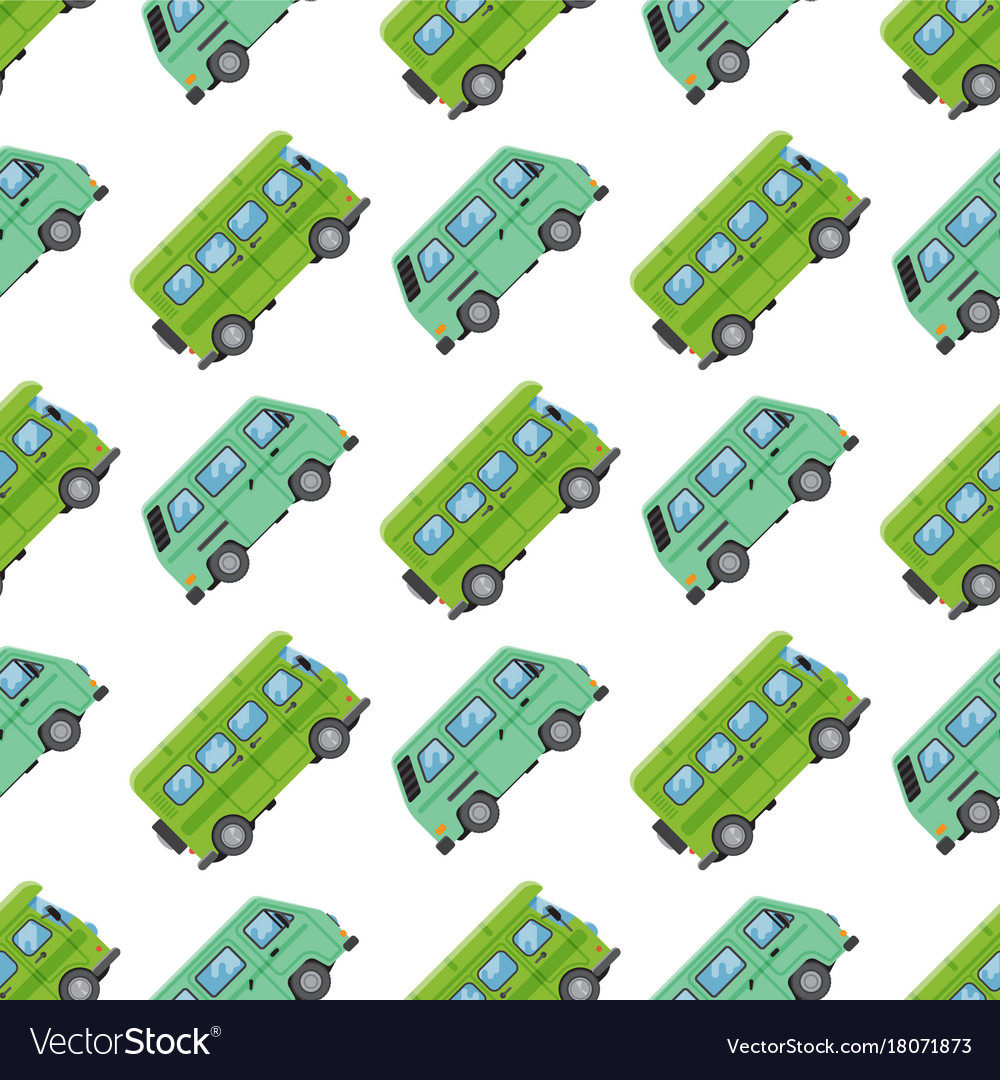 Campers vacation travel car summer seamless vector image