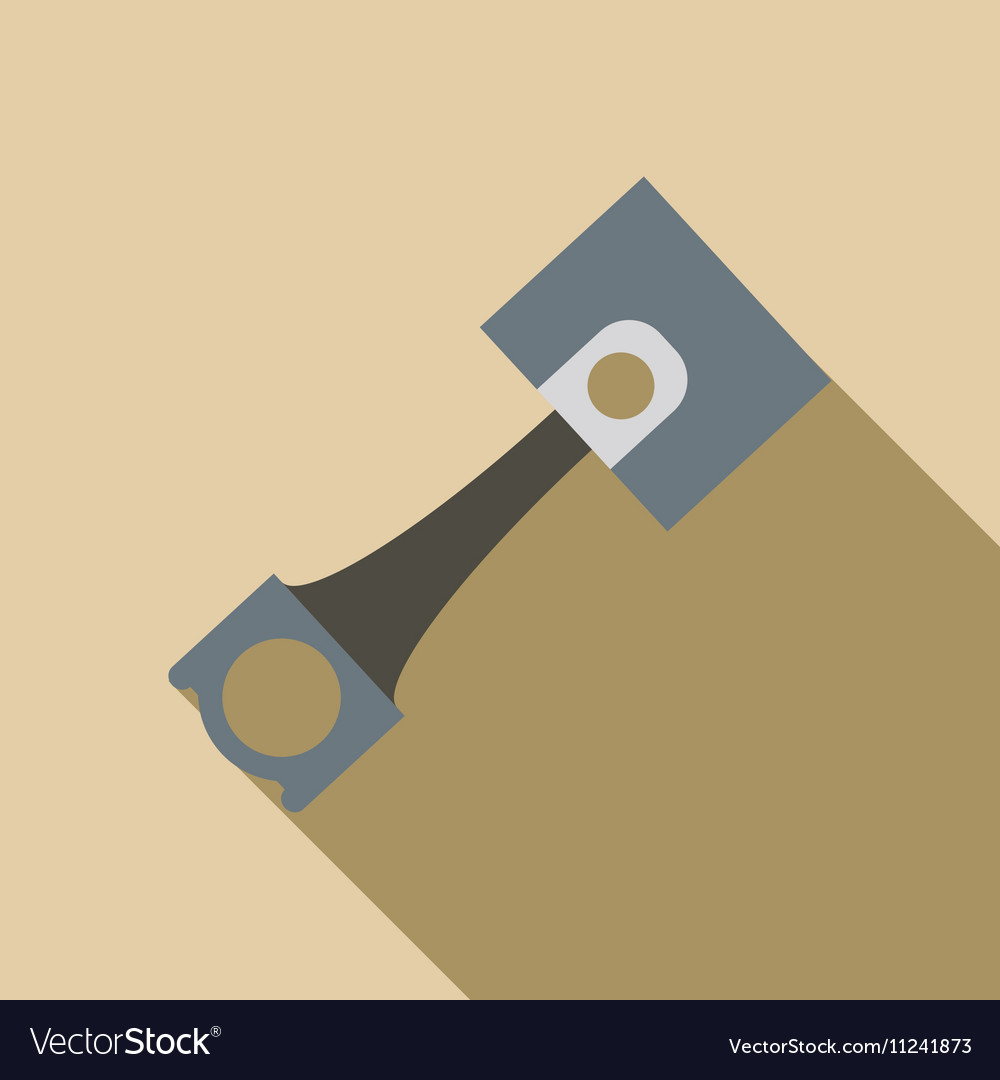 Piston icon flat style vector image