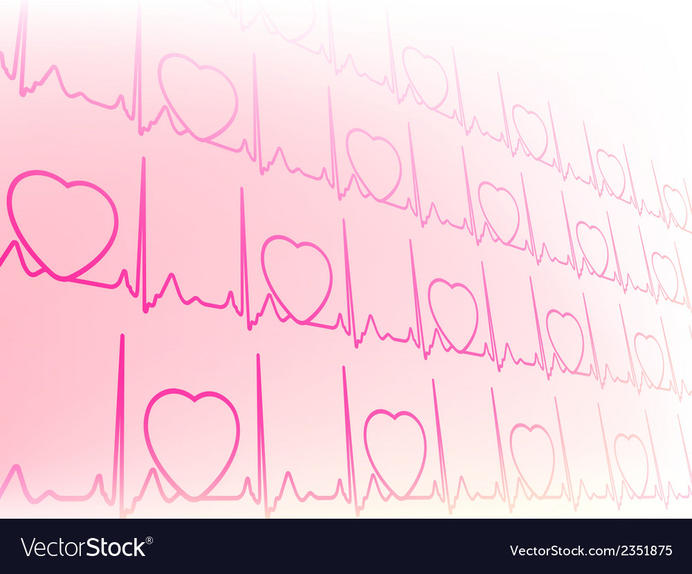 Abstract waveform from EKG test EPS8 vector image