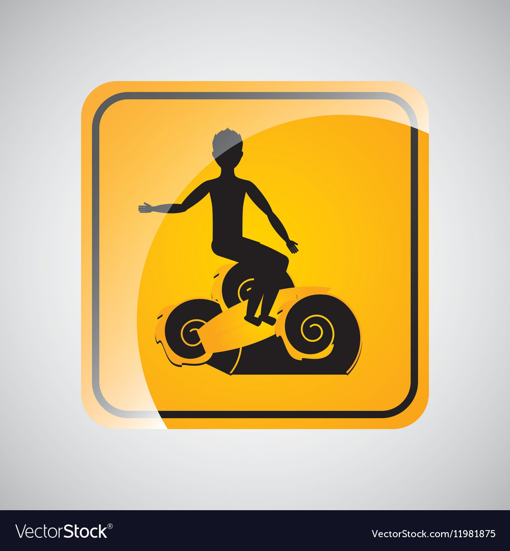 Surfing person sign sport extreme design vector image