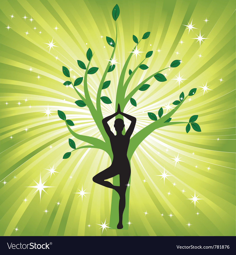Woman meditating yoga vector image