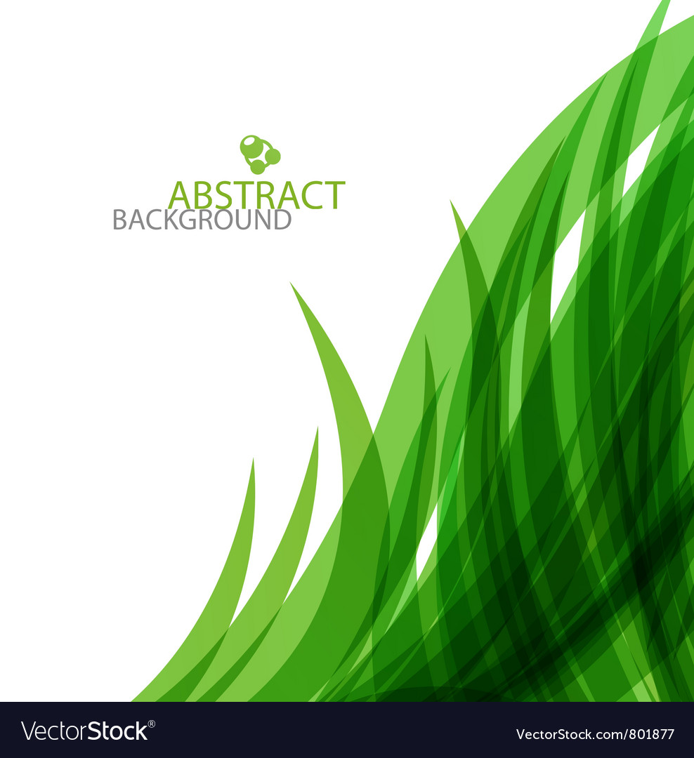 Abstract green waves background vector image