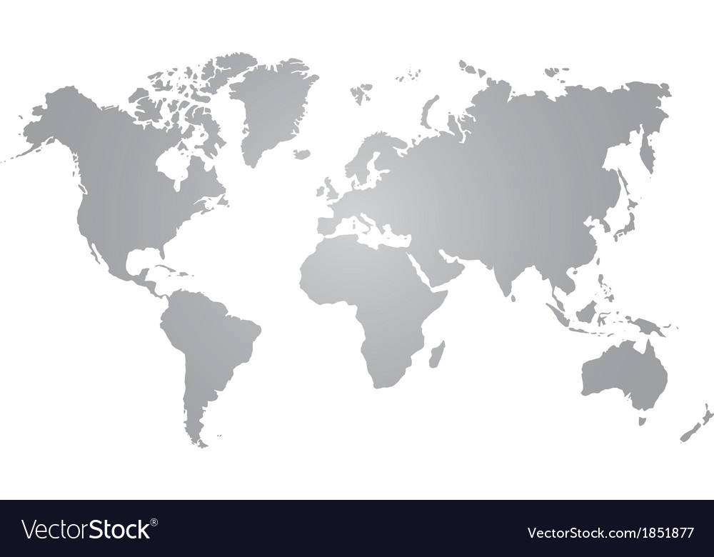 Gray world map on white background royalty free vector image gray world map on white background vector image gumiabroncs Choice Image