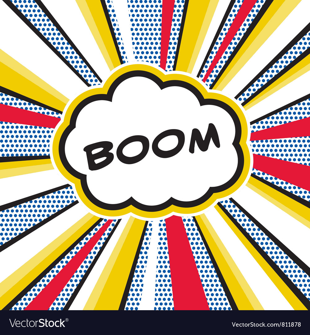 BOOM Pop Art Explosion vector image