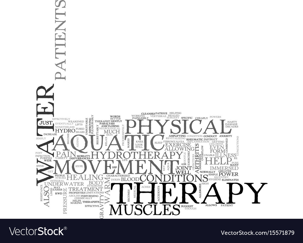 Aquatic fitness the move to water exercise text vector image