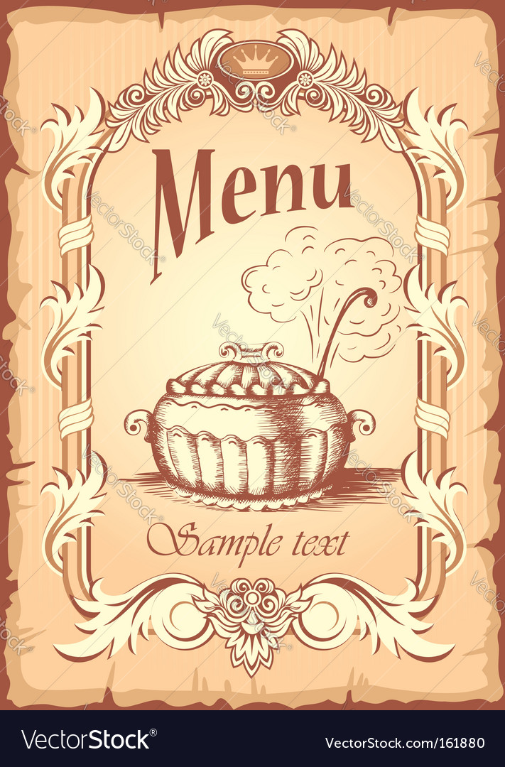 Food label vector image