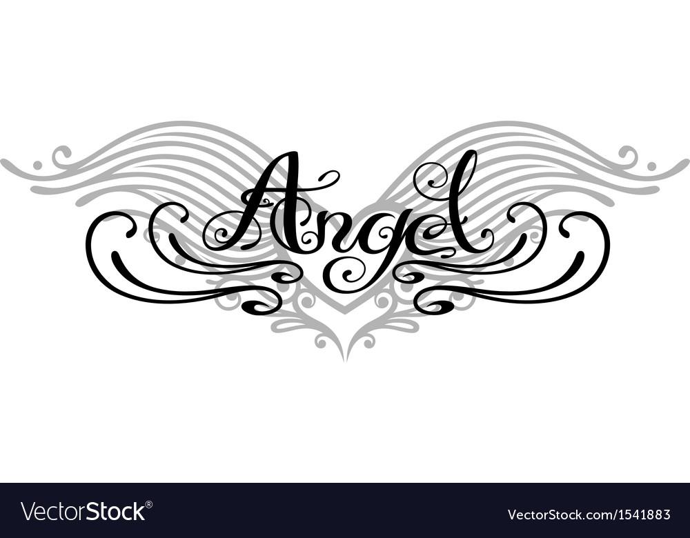 Angel wings tattoo vector image