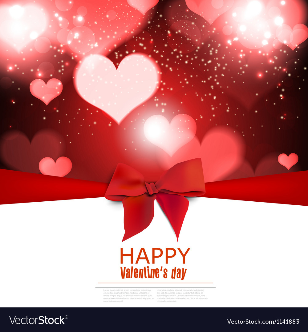 Beautiful greeting cards with red bows and copy vector image
