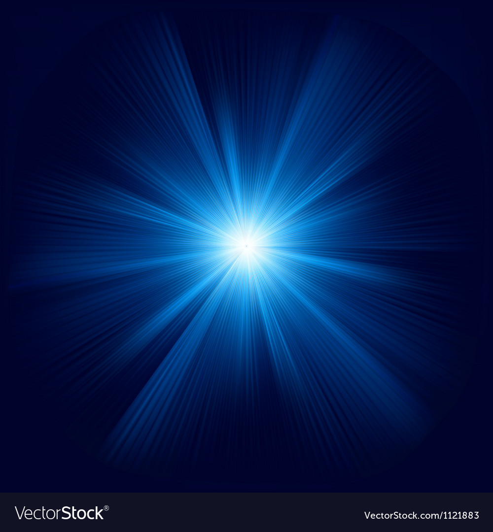 Blue color design with a burst EPS 8 vector image