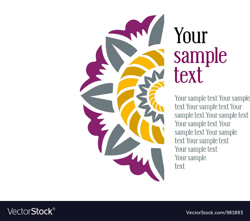 Half flower frame vector image