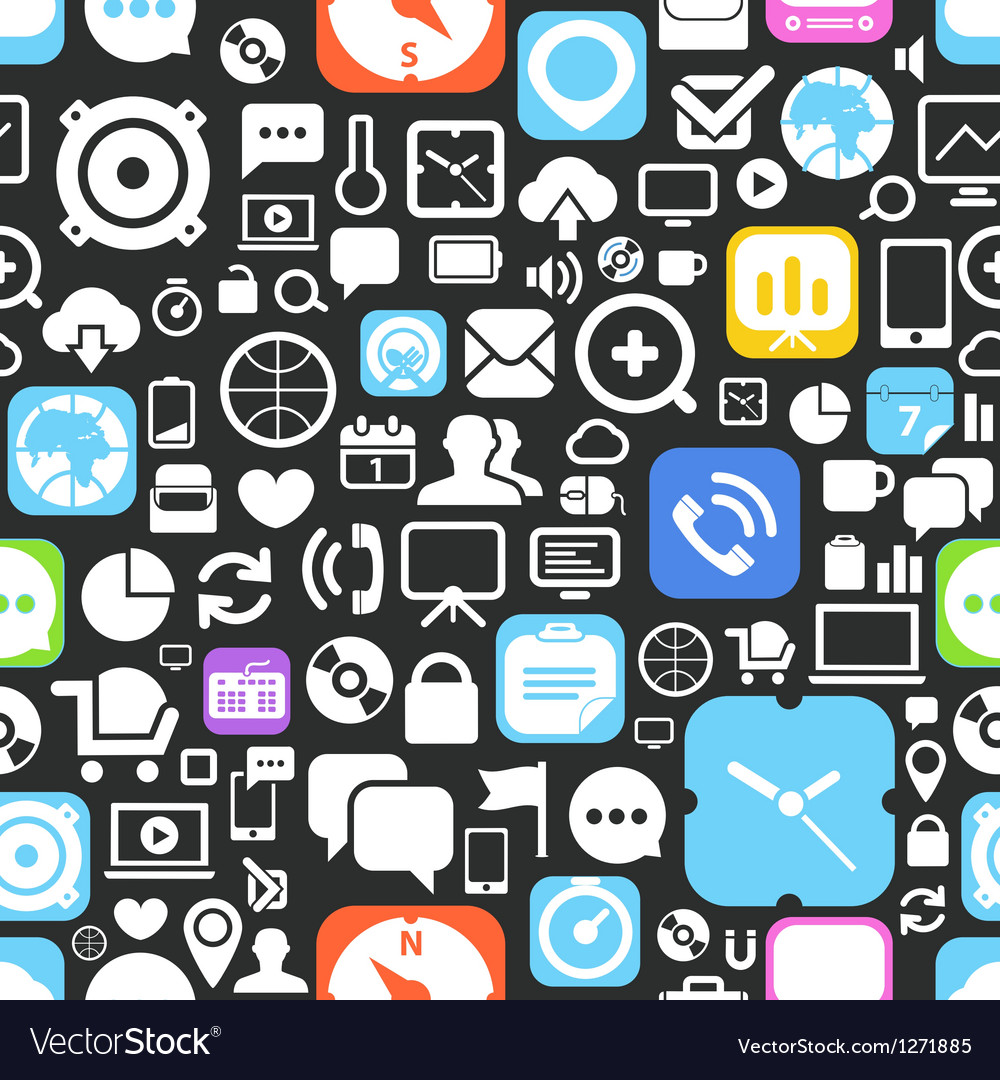 Web graphic interface icons seamless background vector image
